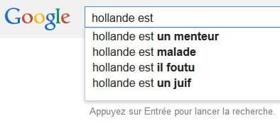 Google Suggest Hollande