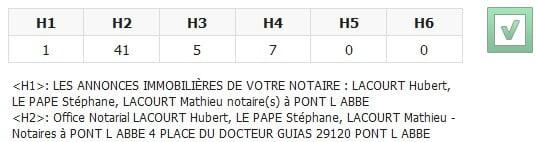 Titres LACOURT LE PAPE