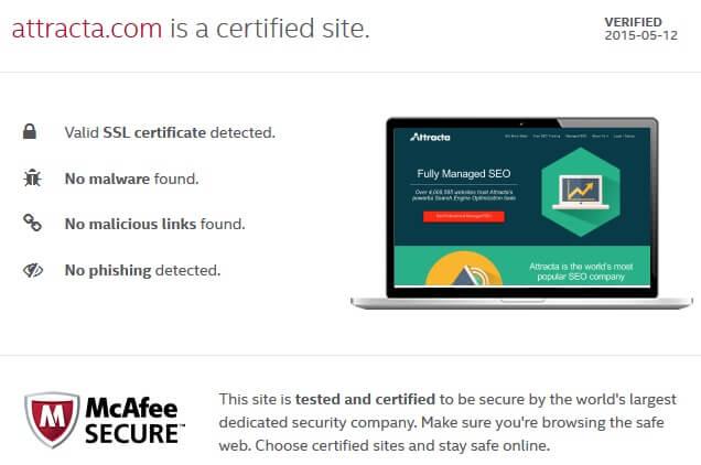 Certificat McAfee