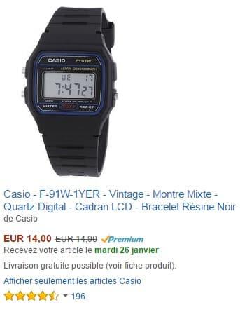 Vente Premium montre CASIO