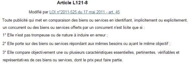 Art L 121-8 Code Consommation - IB