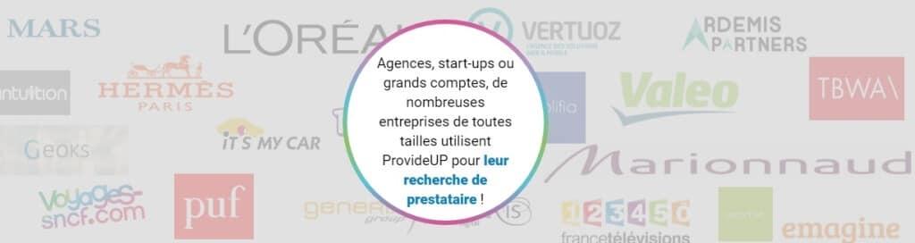 Exemples de clients ProvideUp
