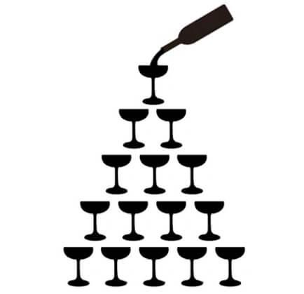 Pyramie champagne SEO