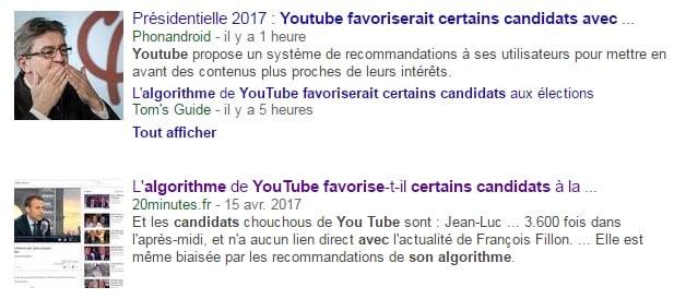 Youtube et les candidats à la Présidentielle