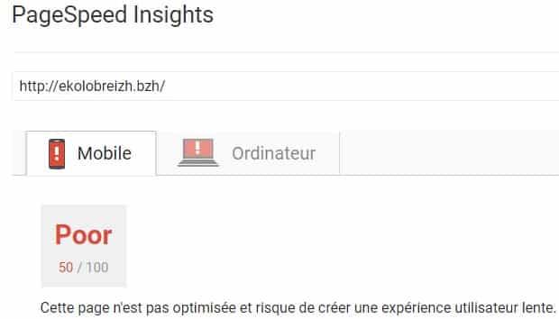 PageSpeed Ekolobreizh