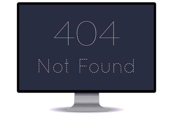 Corriger erreurs 404