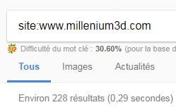 Pages Indexées Millenium 3d