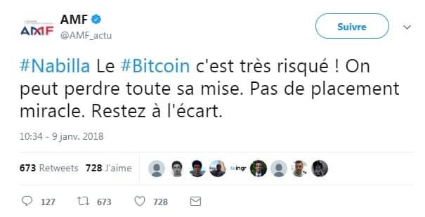 AMF bitcoin Nabilla