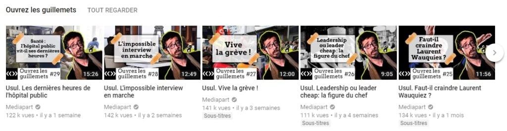 Recrutement Usul par Médiapart sur Youtube