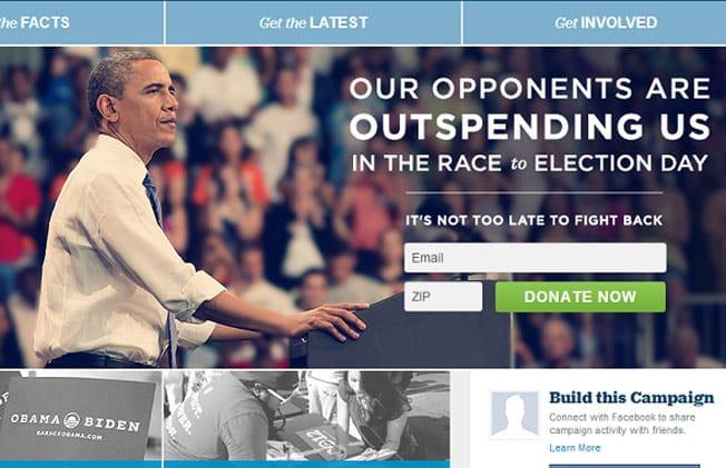 Obama outspent