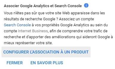 Associer Google Analytics et Google Search Console