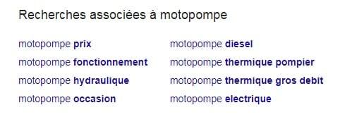 Idées H2 Google Motopompe