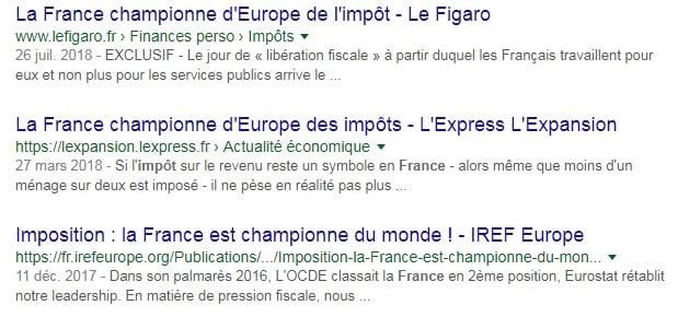 France championne imposition