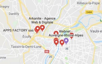 Exemples agences développement applications mobiles Lyon