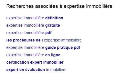 Recherches associées Google expertise immobilière
