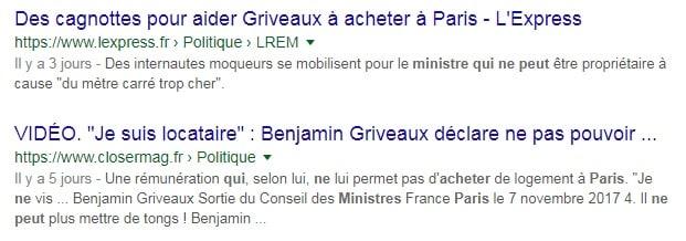 Cagnotte Benjamin Griveaux