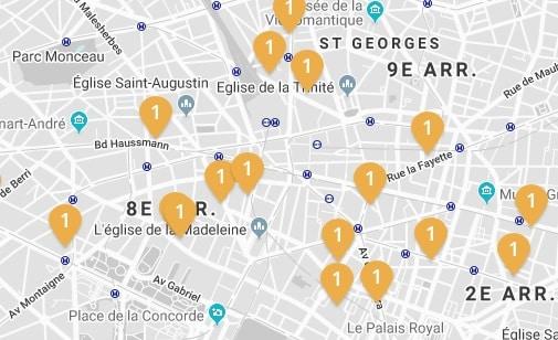 Emplacements bureaux PARIS