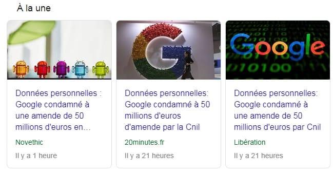 Google condamné par la CNIL