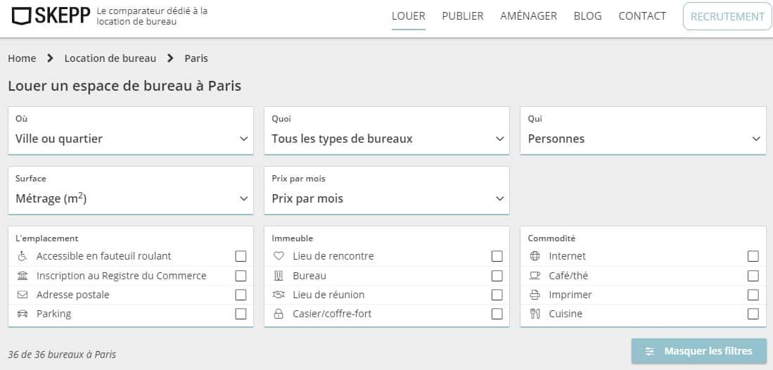SKEPP location bureau PARIS