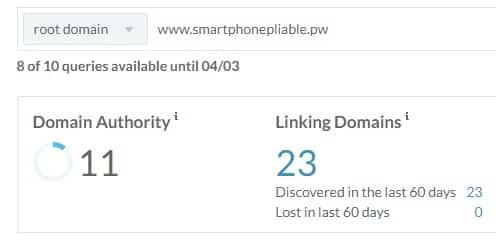 Autorité de domaine smartphone pliable