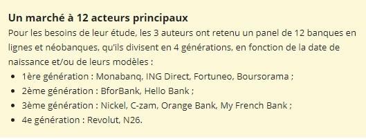 Acteurs banque en ligne