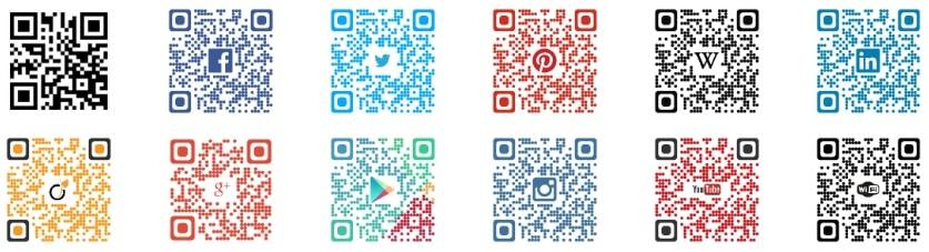 Exemple de QR codes