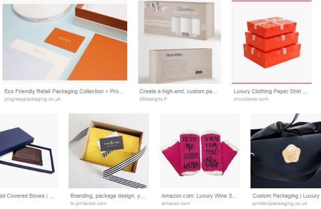 Exemple packaging de luxe