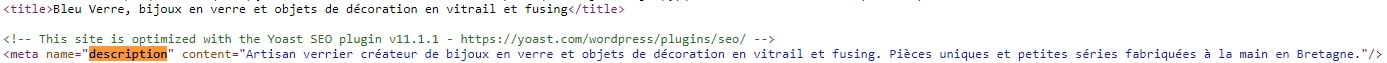 Exemple tite description page