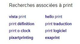 Recherches associées Print