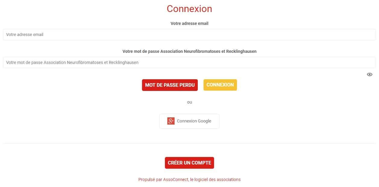 Page connexion à bloquer