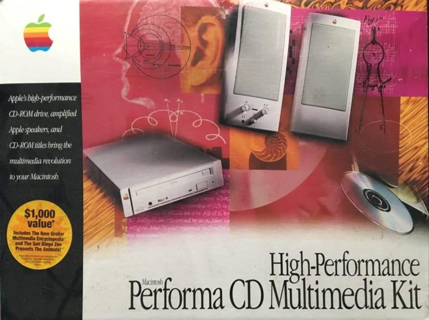 Kit multimedia Apple années 90