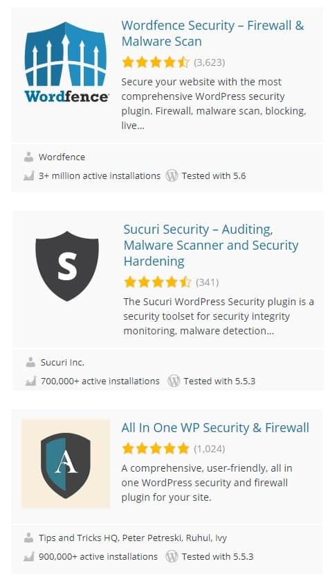 plugins populaires sécurité wordpress